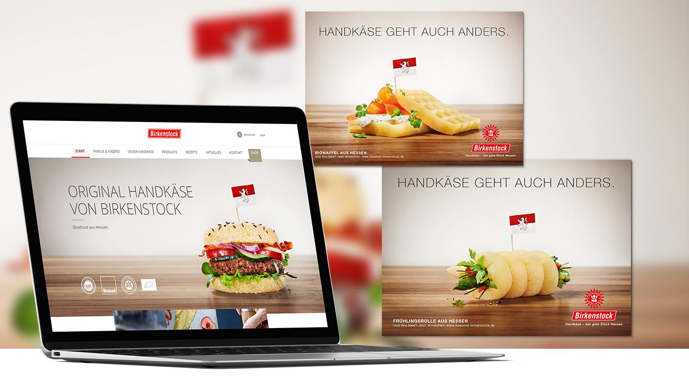 Laptop mit Webseite von Birkenstock