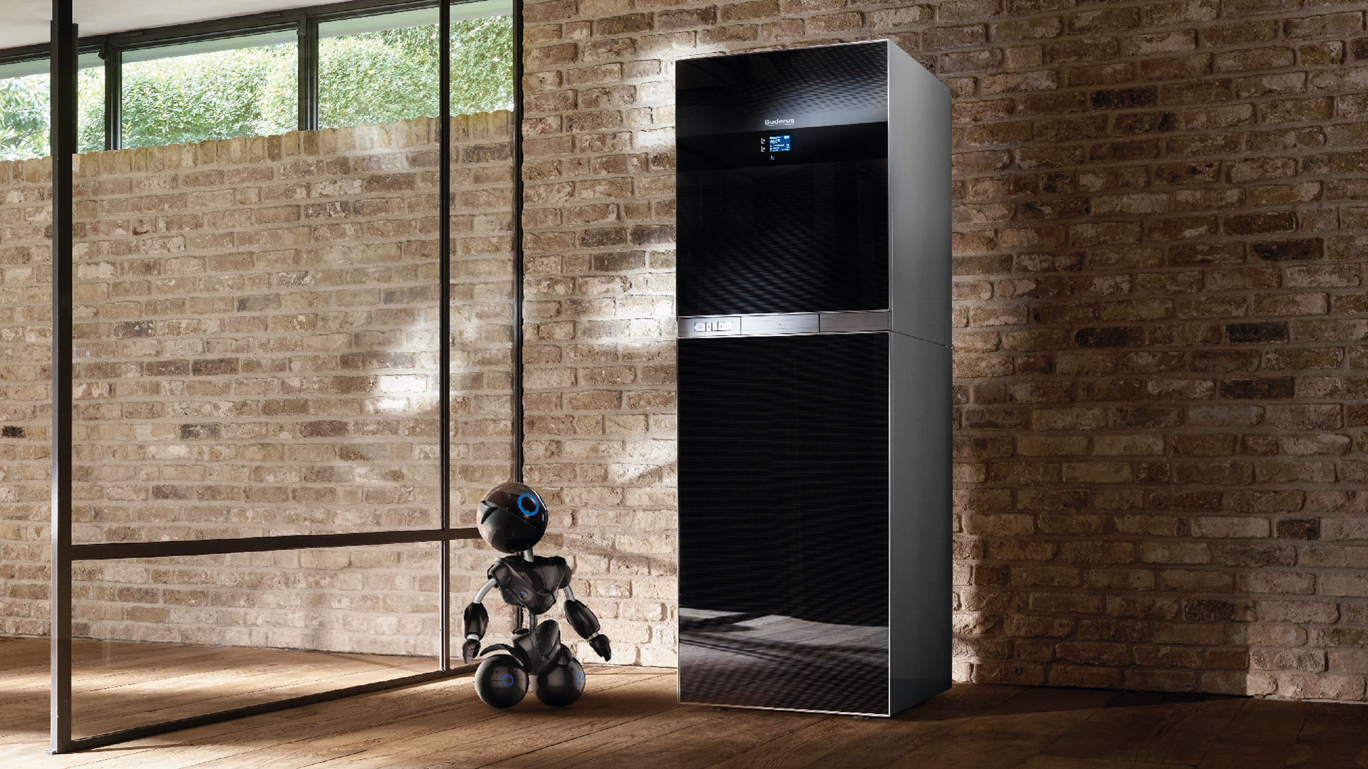 Buder TV-Spot mit Heizkörper und kleinem Roboter