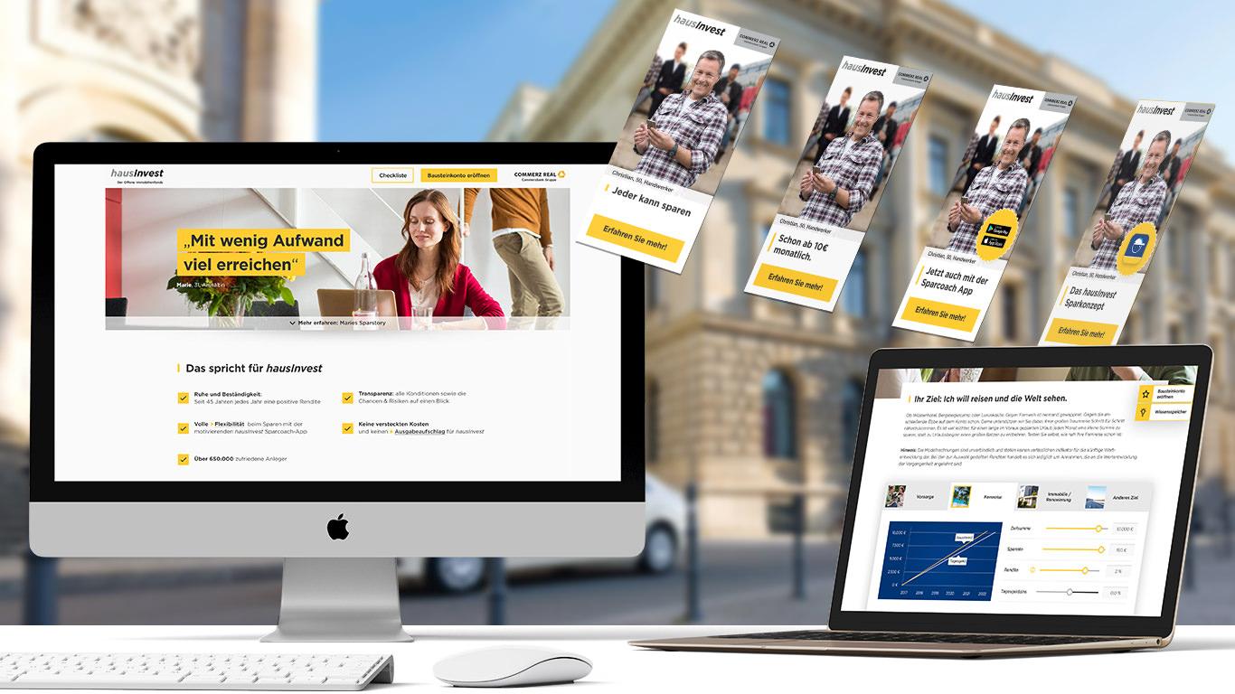 Hausinvest Webseite auf verschiedenen Endgeräten