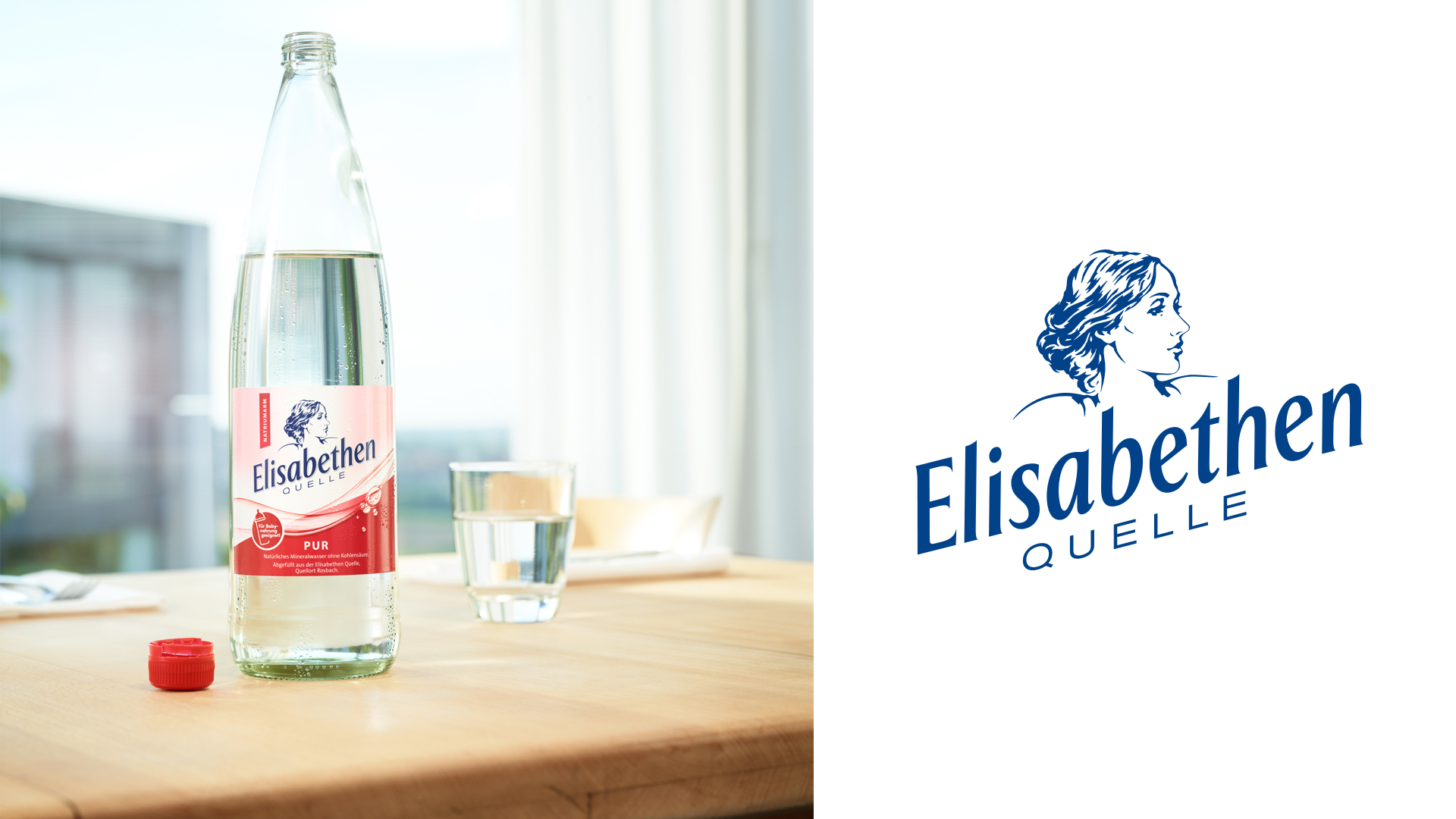 Elisabethenquelle Flasche Pur und Logo